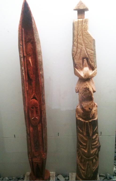 Totem Poles Side-by-Side